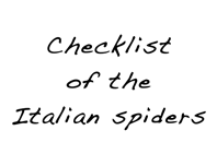 Checklist of the Italian spiders